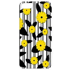 Yellow Floral Pattern Apple Iphone 5 Classic Hardshell Case