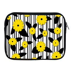 Yellow Floral Pattern Apple Ipad 2/3/4 Zipper Cases by Valentinaart
