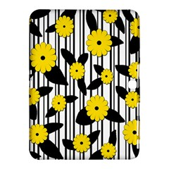 Yellow Floral Pattern Samsung Galaxy Tab 4 (10 1 ) Hardshell Case  by Valentinaart