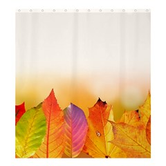 Autumn Leaves Colorful Fall Foliage Shower Curtain 66  X 72  (large)  by Amaryn4rt