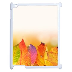 Autumn Leaves Colorful Fall Foliage Apple Ipad 2 Case (white) by Amaryn4rt