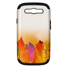 Autumn Leaves Colorful Fall Foliage Samsung Galaxy S Iii Hardshell Case (pc+silicone) by Amaryn4rt