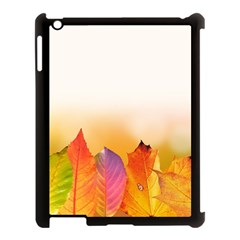 Autumn Leaves Colorful Fall Foliage Apple Ipad 3/4 Case (black) by Amaryn4rt