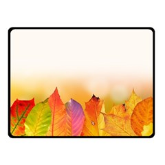 Autumn Leaves Colorful Fall Foliage Double Sided Fleece Blanket (small)  by Amaryn4rt