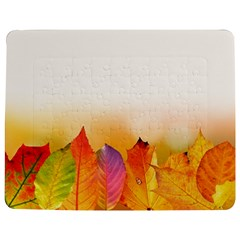 Autumn Leaves Colorful Fall Foliage Jigsaw Puzzle Photo Stand (rectangular) by Amaryn4rt