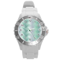 Background Bubblechema Perforation Round Plastic Sport Watch (l)