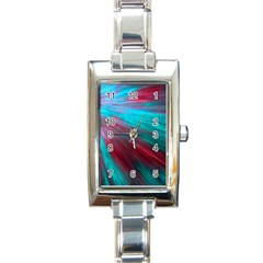 Background Texture Pattern Design Rectangle Italian Charm Watch by Amaryn4rt