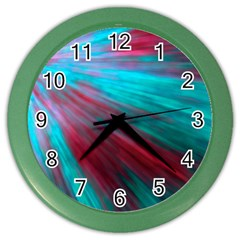 Background Texture Pattern Design Color Wall Clocks by Amaryn4rt