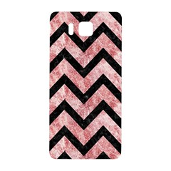 Chevron9 Black Marble & Red & White Marble (r) Samsung Galaxy Alpha Hardshell Back Case by trendistuff