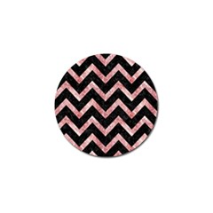 Chevron9 Black Marble & Red & White Marble Golf Ball Marker (4 Pack) by trendistuff