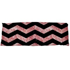 Chevron3 Black Marble & Red & White Marble Body Pillow Case Dakimakura (two Sides) by trendistuff