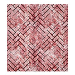 Brick2 Black Marble & Red & White Marble (r) Shower Curtain 66  X 72  (large)