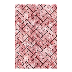 Brick2 Black Marble & Red & White Marble (r) Shower Curtain 48  X 72  (small)