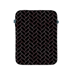 Brick2 Black Marble & Red & White Marble Apple Ipad 2/3/4 Protective Soft Case