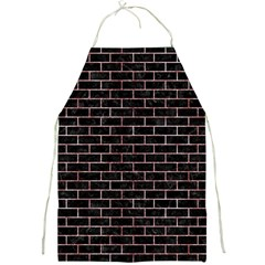 Brick1 Black Marble & Red & White Marble Full Print Apron by trendistuff