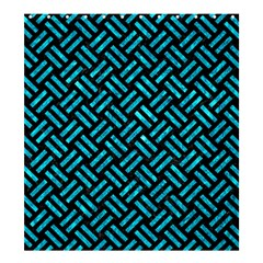 Woven2 Black Marble & Turquoise Marble Shower Curtain 66  X 72  (large)