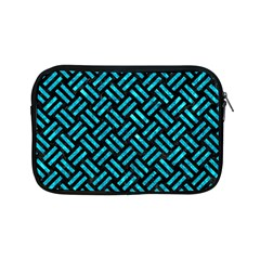 Woven2 Black Marble & Turquoise Marble Apple Ipad Mini Zipper Case by trendistuff
