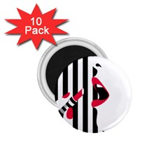 Lipstick Face Girl 1 75  Magnets (10 Pack)  by Jojostore
