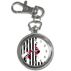 Lipstick Face Girl Key Chain Watches