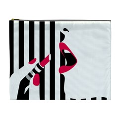 Lipstick Face Girl Cosmetic Bag (xl) by Jojostore
