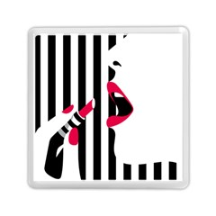 Lipstick Face Girl Memory Card Reader (square)  by Jojostore