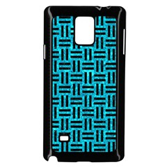 Woven1 Black Marble & Turquoise Marble (r) Samsung Galaxy Note 4 Case (black) by trendistuff
