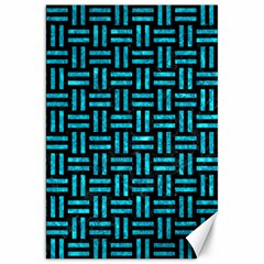 Woven1 Black Marble & Turquoise Marble Canvas 20  X 30  by trendistuff