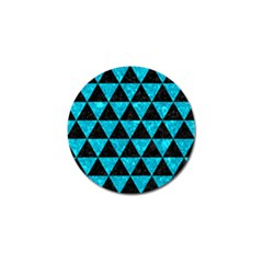Triangle3 Black Marble & Turquoise Marble Golf Ball Marker (4 Pack) by trendistuff
