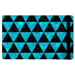 Triangle3 Black Marble & Turquoise Marble Apple Ipad 2 Flip Case by trendistuff