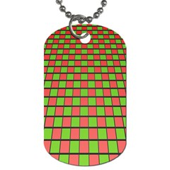 Green Red Box Dog Tag (one Side)
