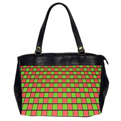Green Red Box Office Handbags (2 Sides)  by Jojostore