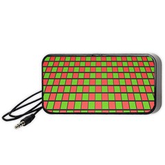 Green Red Box Portable Speaker (black)  by Jojostore