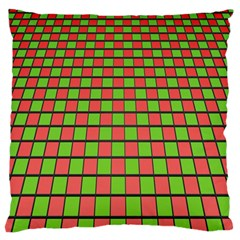 Green Red Box Standard Flano Cushion Case (two Sides)