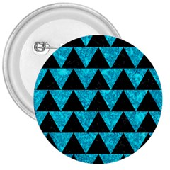 Triangle2 Black Marble & Turquoise Marble 3  Button by trendistuff