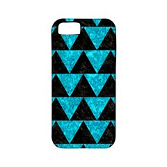 Triangle2 Black Marble & Turquoise Marble Apple Iphone 5 Classic Hardshell Case (pc+silicone) by trendistuff