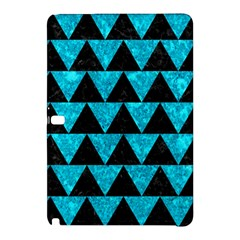 Triangle2 Black Marble & Turquoise Marble Samsung Galaxy Tab Pro 12 2 Hardshell Case by trendistuff