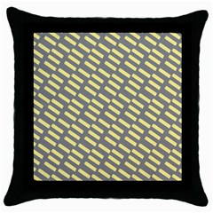 Yellow Washi Tape Tileable Throw Pillow Case (black) by Jojostore