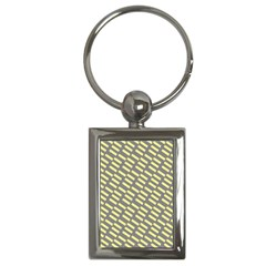 Yellow Washi Tape Tileable Key Chains (rectangle)  by Jojostore