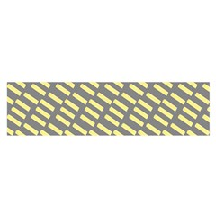 Yellow Washi Tape Tileable Satin Scarf (oblong)