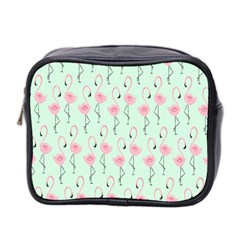 Mint Flamingos Mini Toiletries Bag 2 Side