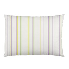 Line Yellow Purple Green Pillow Case (two Sides) by Jojostore