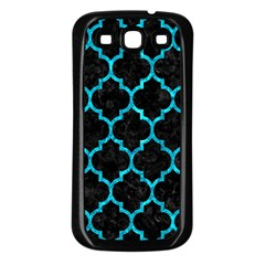 Tile1 Black Marble & Turquoise Marble Samsung Galaxy S3 Back Case (black) by trendistuff