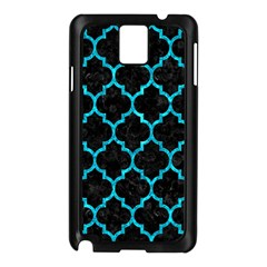 Tile1 Black Marble & Turquoise Marble Samsung Galaxy Note 3 N9005 Case (black) by trendistuff