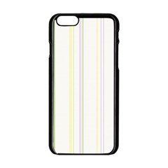 Line Yellow Purple Green Apple Iphone 6/6s Black Enamel Case by Jojostore