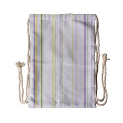 Line Yellow Purple Green Drawstring Bag (small) by Jojostore