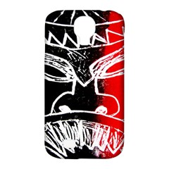 Mask Face Red Black Samsung Galaxy S4 Classic Hardshell Case (pc+silicone)