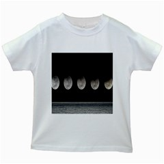 Moon Phase Kids White T Shirts by Jojostore