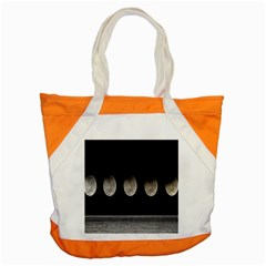 Moon Phase Accent Tote Bag by Jojostore