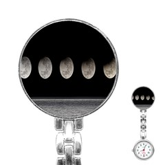 Moon Phase Stainless Steel Nurses Watch by Jojostore