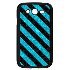 Stripes3 Black Marble & Turquoise Marble (r) Samsung Galaxy Grand Duos I9082 Case (black) by trendistuff